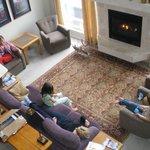 Guests relaxing in living room of McKinley Inn