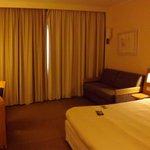 Hotel room.
