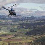 Flying over the beautiful Tasman region