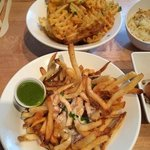 Triple truffle fries and Cheese fries