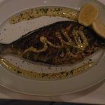 Greek fish grilled whole..