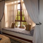 "window seat in the ""zebra room"""