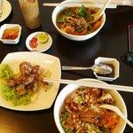 Different Vietnamese food.