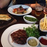 Ribeye Steak and Lamb- beautifully cooked and presented!