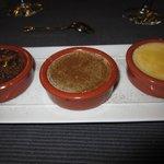Dessert - Creme Brulé - Vanille, Pistachio and Nutella Flavor
