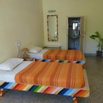 Beds in hostel portion of the property