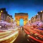 Champs Elysées illuminated