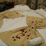 Das liebevoll bereitete Bett