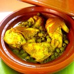 Moroccan famous chicken tajine with preserved lemons