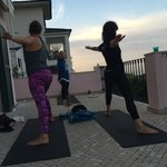 yoga and meditation on the top balcony overlooking the sea was magical....