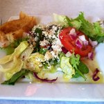 Perfect blend of spices in dressing and creamy feta cheese