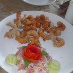 yummy spicy prawn rava fry