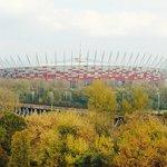 Blick auf das Nationalstadion Warschau