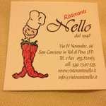 Business card of Ristorante Nello