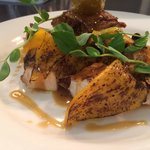 Roast & confit chicken,pumpkin & jus gras