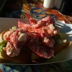 Heaping Mounds of Lobster Delight with a view at Bob Lobster in Newburyport, MA. Not touristy.