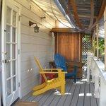 Porch outside Jasmine Suite