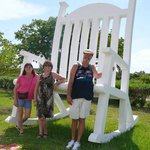 The Biggest Concrete Rocking Chair We have Ever Seen