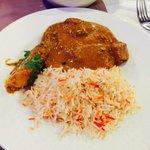 Lamb Vindaloo and Pilau Rice