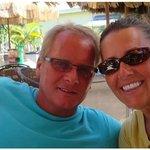 DAn & I at the Bamboo Beach Bar & Grill