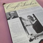 Cafe Sacher menu