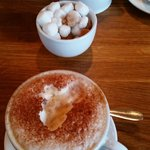 Lovely frothy cappucino