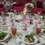 Pink Ribbon Luncheon Table