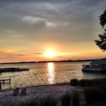 sunset on Lake Dora