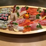 Beautiful Sushi and Sashimi Boat