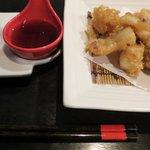 夕食メニュー一例 たこ天ぷら