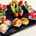 One of the amazing sushi platters