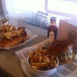 Chili Dog and Smokehouse Burger
