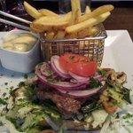 Fillet steak on toast