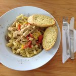 Spanish Stroganoff - chicken with tarragon, pasta, mushrooms and a hint of sherry in the sauce