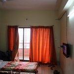 AC room's curtains