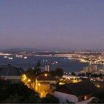 Visão da noite em Valparaíso