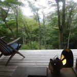 Balcony and onsen view