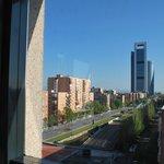 Vista de los rascacielos desde la habitación