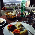 Fantastic Antipasto , great wine and an amazing view all make for an incredible lunch!