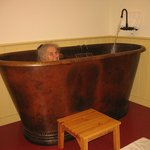 Room #7 hammered copper bath tub