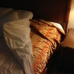 Old Bedspreads under mattress cover, sheets on top!