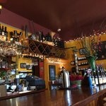 The bar at the Fountain Cafe in Port Townsend