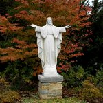 Entrance to the path of the Grotto of Lourdes, Emmitsburg, MD (LAD 10-22-2014)