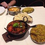 Mixed Karai, Chicken Majeda, Special Rice, Keema Rice & Special Naan (Chicken Tikka, Chilli & Ch