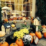 Fall decorations outside