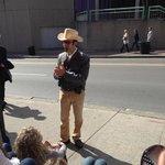 Bill telling a story outside the Ryman