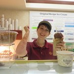 Sweet Sarah, with the Ice Cream arms....friendly with a Great Smile
