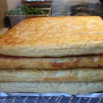 freshed baked focaccia bread