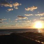 Sunrise from Beachers Lodge