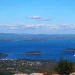 Frenchman Bay & Bar Harbor from atop Cadillac Mountain